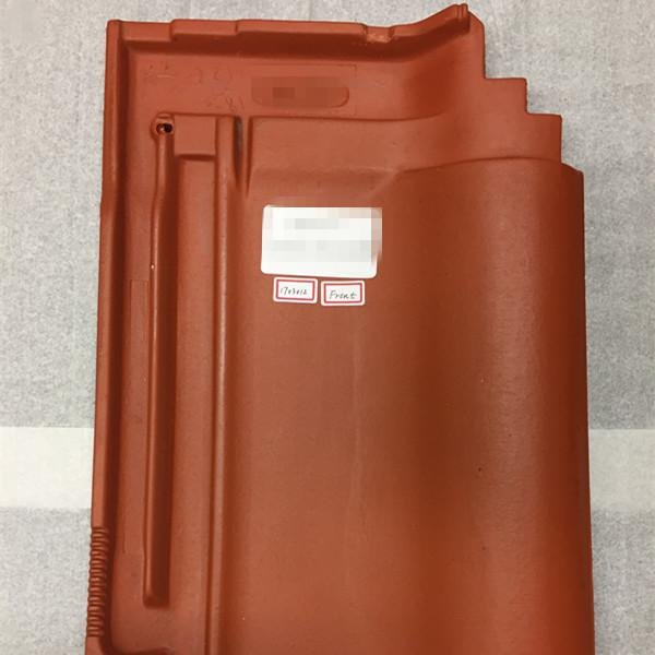 A roof tile sample