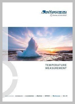 Delta Ohm temperature measurement brochure