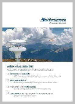 Delta Ohm wind measurement flyer
