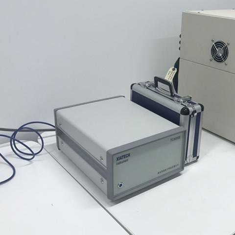 Transient hot wire meter for thermal conductivity testing